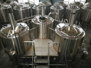 China 15 BBL Microbrewery Brewing Equipment Direct Fired / Steam Three Vessels factory