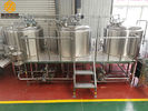 China three vessels professional brewing equipment 1000L combination brewhouse with 6 fermenters company