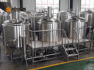 China Steam Heating Beer Brewing Equipment 1000L Stainless Steel Three Vessels factory