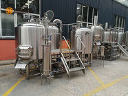 Three Vessels 1000L beer production Line 10HL Steam / Direct Fire Heating