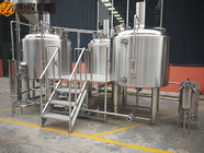 China 10HL Stainless Steel Brewing Equipment Indoor / Outdoor With Mobile CIP System factory