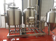 300L Small brewery Equipment Steam / Gas Heated with 2 vessels brewhouse semi automatic control