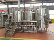 Steam / Gas Heated Brewhouse Beer Brewing Machine Semi Automatic Control