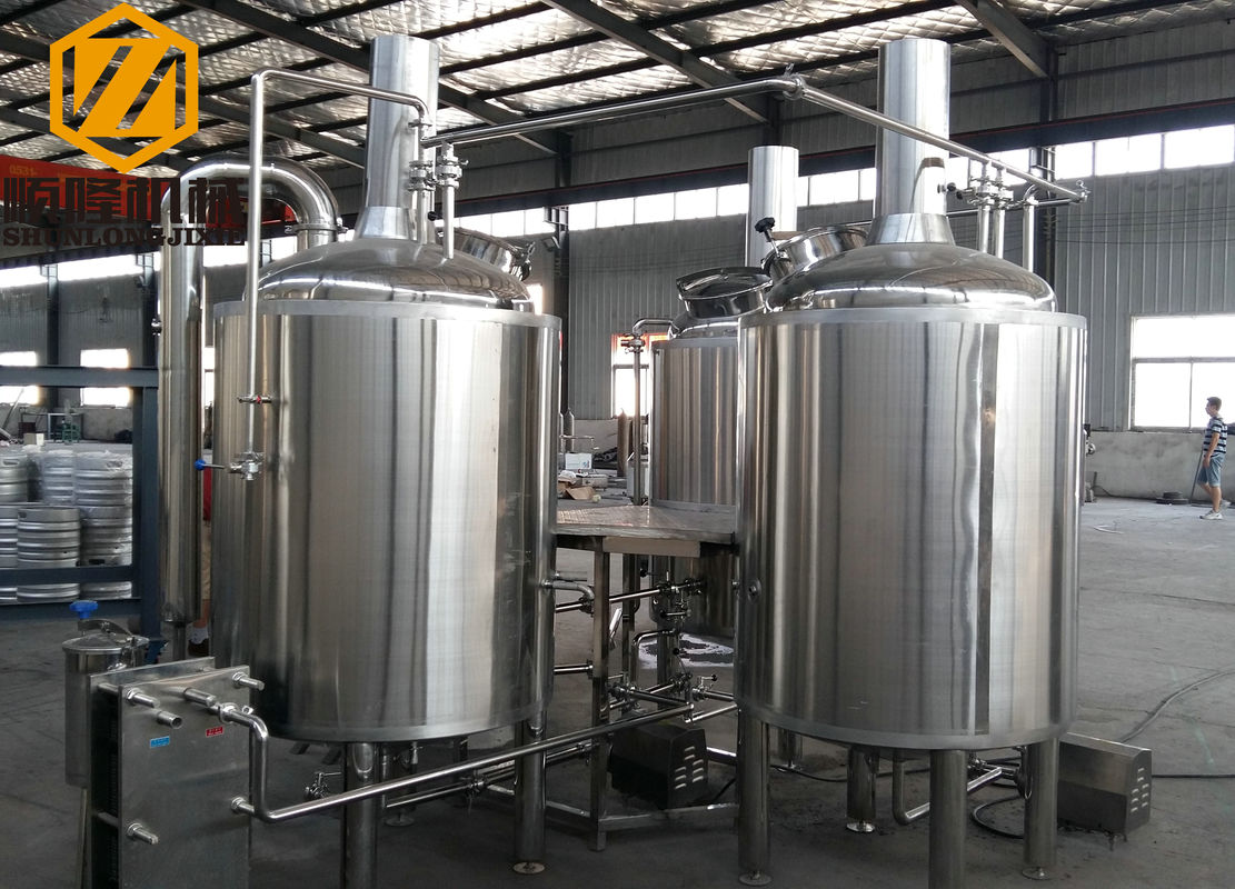 304 Ss Beer Brewing System 3hl Steam Heating Glycol