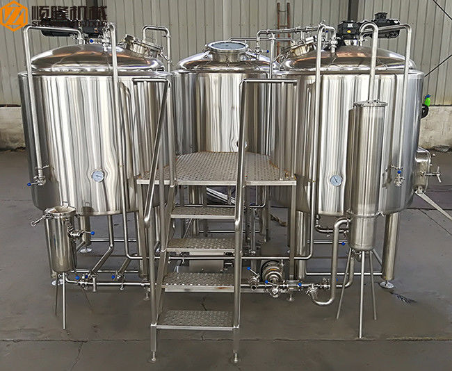 500 L Beer Brewing Kit Beer Making Equipment With Three
