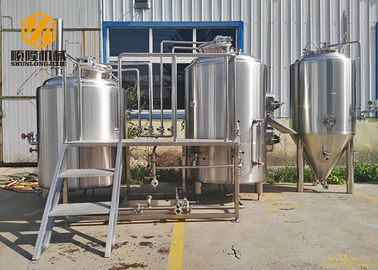 China 1000L Stainless Steel Beer Making Machine Steam Heated For Craft Beer distributor