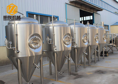 China Side Manhole Conical Beer Fermenter 5000L With Dual Zone Cooling Jacket distributor