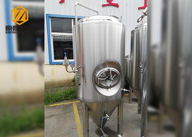 China 500L Stainless Steel Conical Beer Fermenter , Small Conical Fermenter With Dimple Plate Jacket distributor