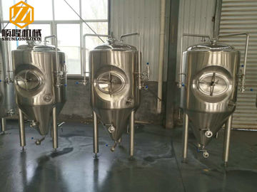 China 2HL Stainless Steel Brewing Systems Top / Side Manhole Fermentation Tank factory