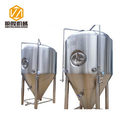 China 3000L Stainless Steel Conical Fermenter 2 Bar Work Pressure Optional Shadowless Manway distributor