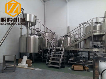China SS 5000L Beer Production Equipment Complete System 2mm Cladding distributor