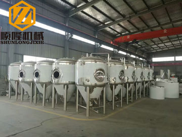China Single Wall Beer Fermentation Tanks 3000L With Adjustable Foot Pad factory