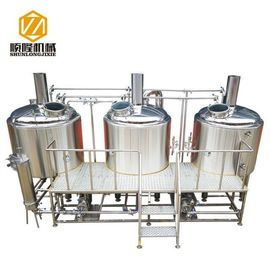 China Bright Color Stainless Steel 1000Lbeer Brewing Equipment , Micro Beer Brewery Equipment factory