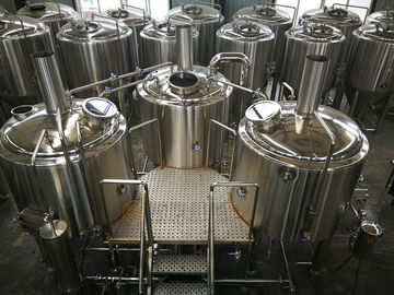 China 15 BBL Microbrewery Brewing Equipment Direct Fired / Steam Three Vessels distributor