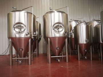 China 72 Cone Degree Stainless Steel Fermentation Tank , Brewery Fermentation Tanks factory