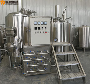 China 500L Micro Beer Brewing Equipment , SS 316 Manual Control Beer Making Equipment distributor