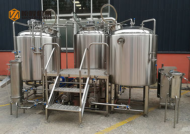 Plc Control Craft Beer Brewing Equipment , Commercial Beer Distillery Equipment