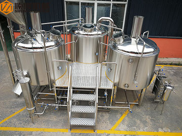 China Steam Heated brewhouse Equipment 1000L Rock Wool / PU Foam Insulation distributor