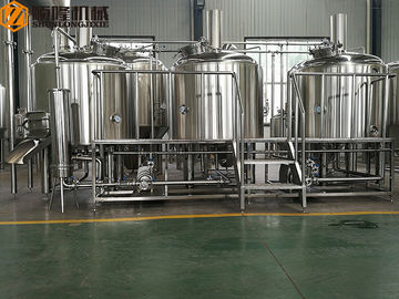 China Three Vessels Brewhouse Equipment , 20HL Craft Brew House With Double Stage Cooling System distributor