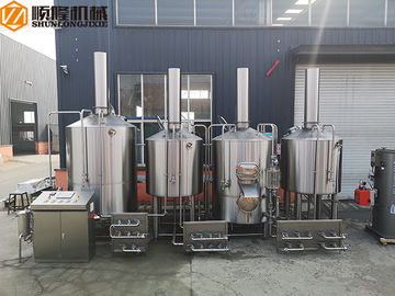 China Stainless Steel Brewhouse Equipment , 20HL Steam Heated Beer brewing Equipment distributor