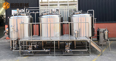 China 10 HL Stainless Steel Beer Making Machine Semi Automatic Control With Jacket distributor