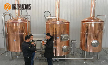China Pale Ale Red Copper 2.5 Bbl Brewing System 2-6 Brew / Week For Small Taproom distributor