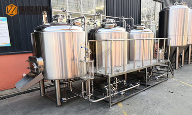 China 10HL Stainless Steel Beer Making Machine Semi Automatic Control With Jacket distributor