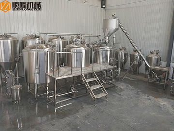 China SUS 2000L Microbrewery Brewing Equipment For Craft Beer Complete Whole Set With Hopper distributor