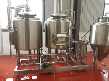 China 300L Small brewery Equipment Steam / Gas Heated with 2 vessels brewhouse semi automatic control distributor