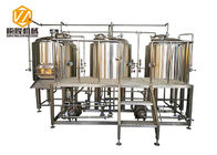 Stainless Steel 3 Vessles 500L Mini Brewery With 8 Fermentation Tanks