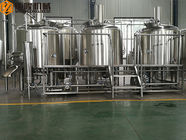 Three Vessels Brewhouse Equipment , 20HL Craft Brew House With Double Stage Cooling System