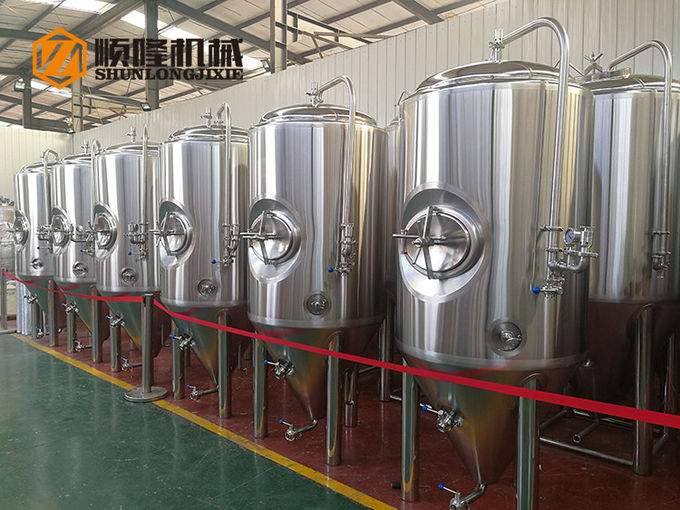 600L SUS304  stainless steel bright polished concial  fermentation tank